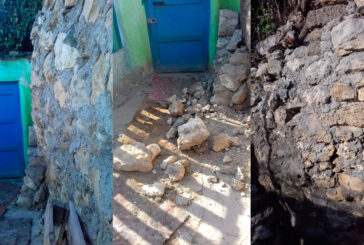 Жители дома № 3-б по улице Лагерная переживают за оставшуюся часть обвалившейся стены, которая также аварийная